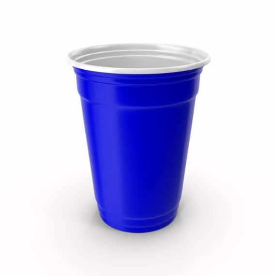 Bicchiere da birra pong blu