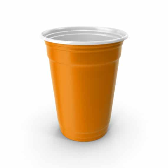 Gobelet Cup beer pong orange