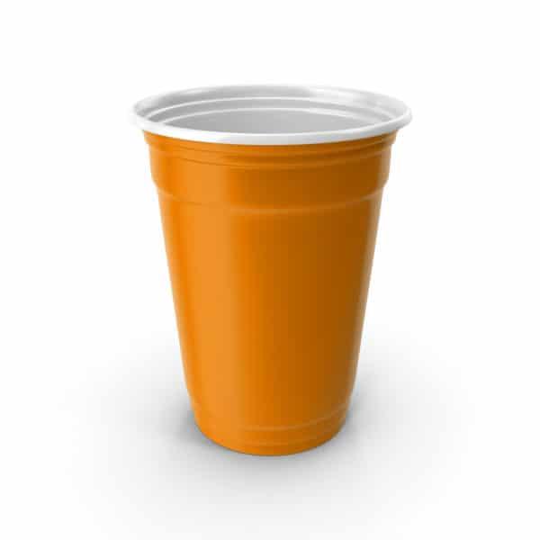Beer pong cup orange