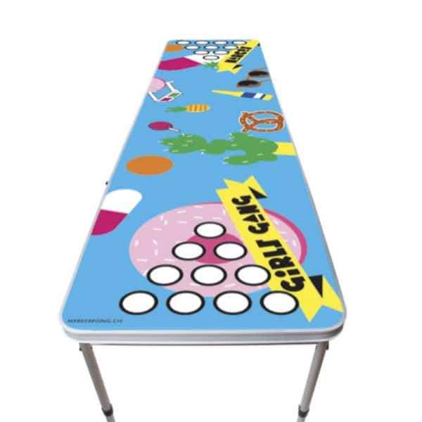 Beer pong pool tables