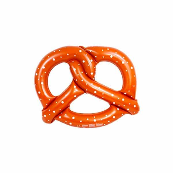 Inflatable pretzel buoy for pool parties