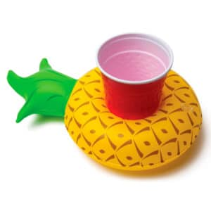 Inflatable pineapple cup holder buoy for pool parties