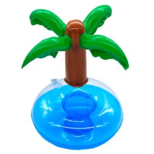 Inflatable Palm tree cup holder buoy for pool parties