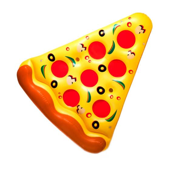 Bouée pizza gonflable pour pool party
