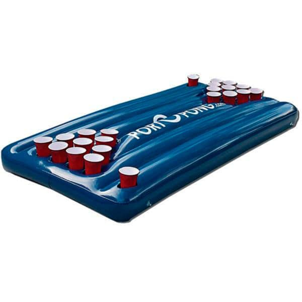 Inflatable pool table buoy for pool parties